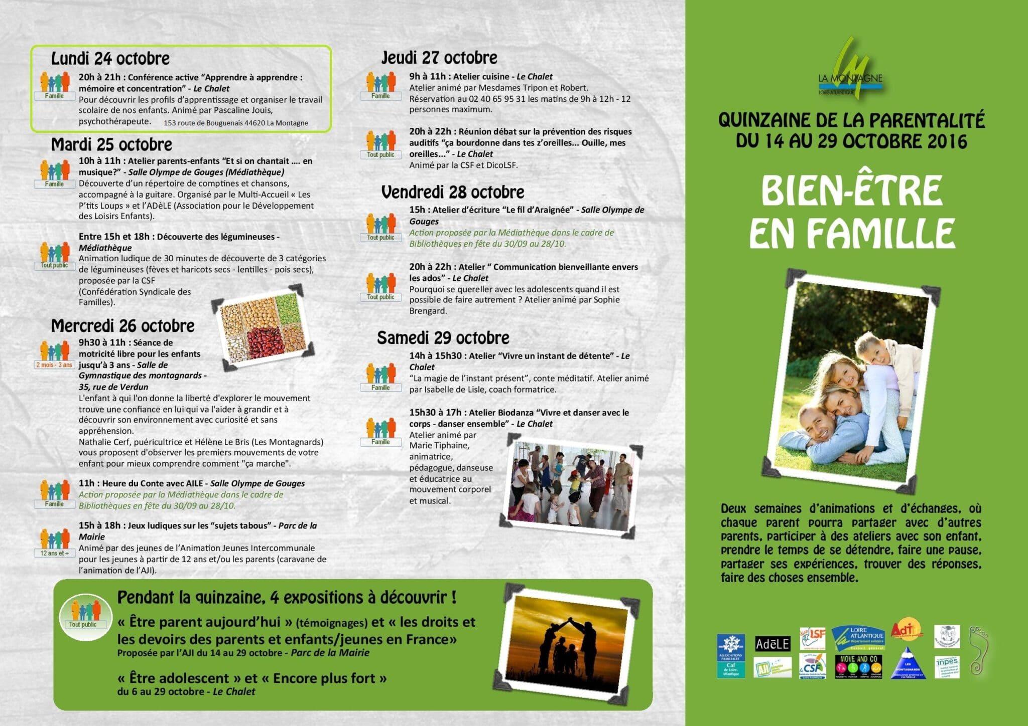 affiche de Conférence de Pascaline Jouis à la Quinzaine de la Parentalité